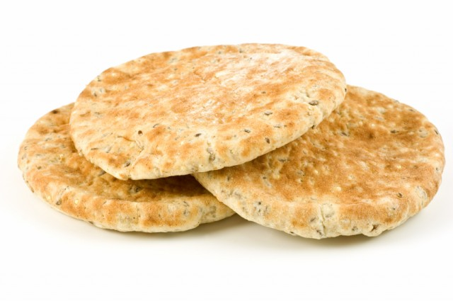 pita bread stacked on top of each other