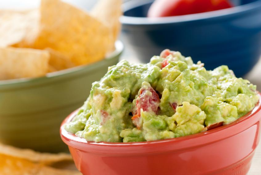 Bowl of guacamole