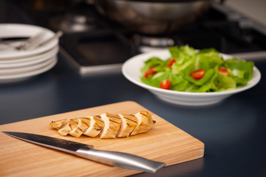 chicken on a cutting board