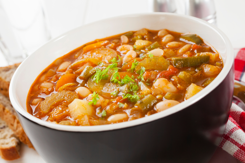 Baked vegetable soup