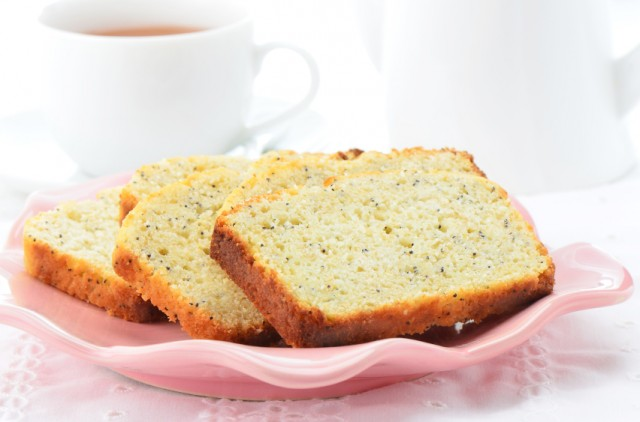 slices of poppy seed bread on a plate