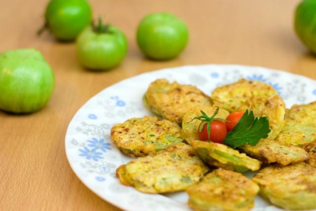 fried green tomato sliders