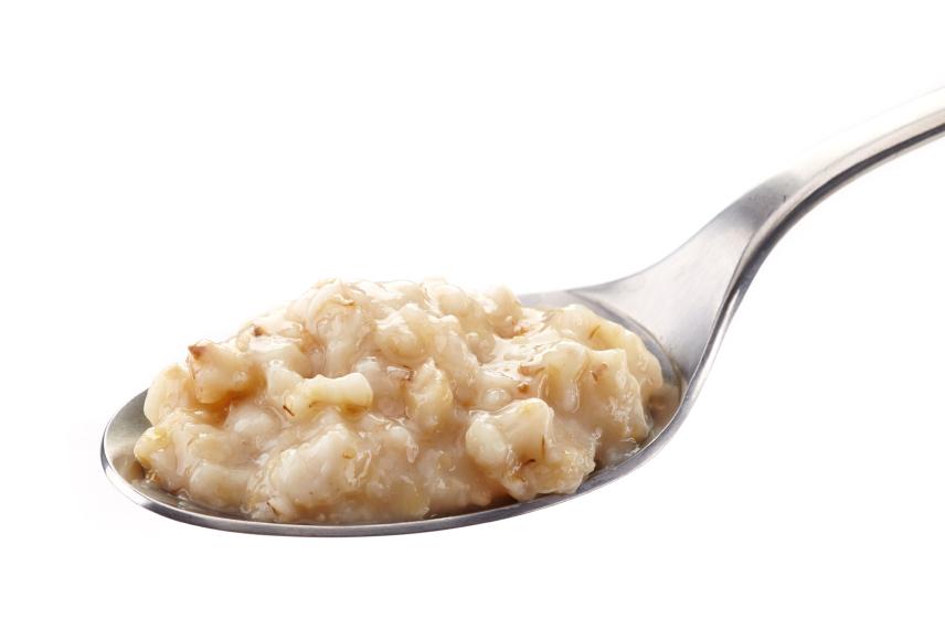 spoon of oatmeal