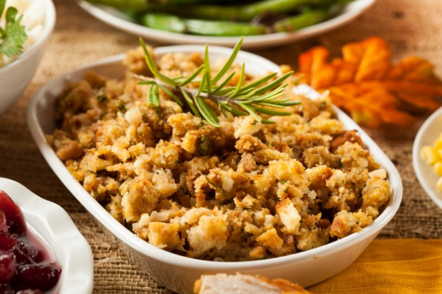 Toasted brioche adds a twist to this classic stuffing dish