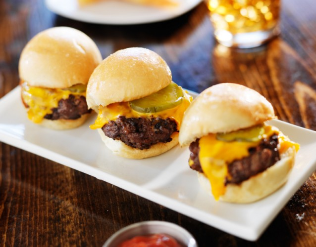 Slider style mini burgers