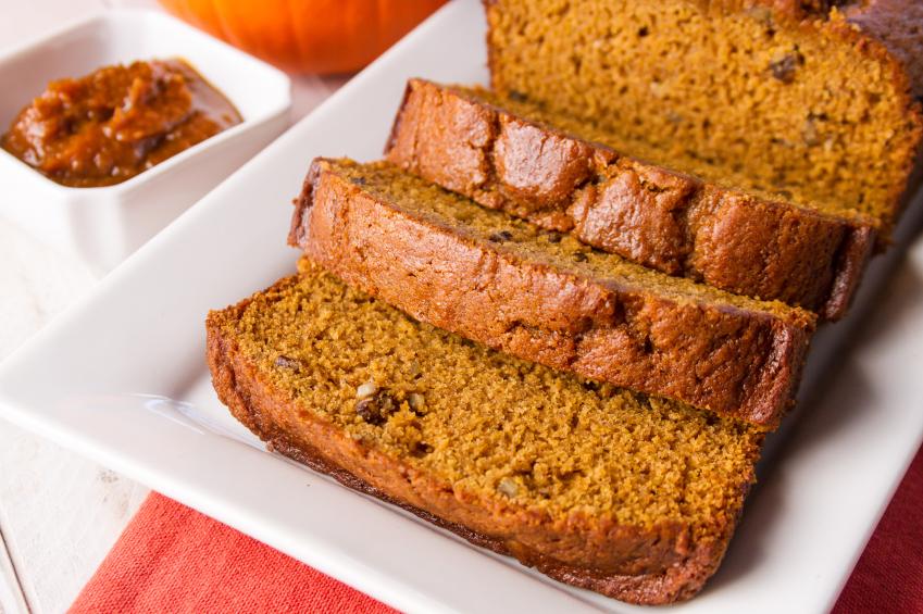 loaf of pumpkin bread