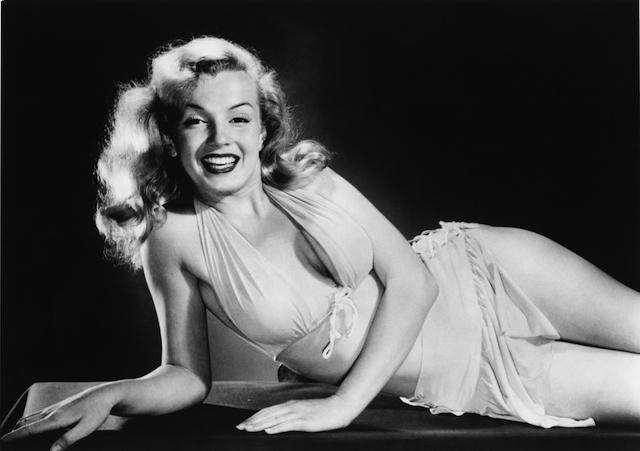 Photo of Marilyn Monroe in a swimsuit