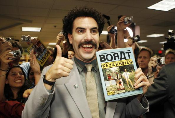 Sacha Baron Cohen in character as Borat