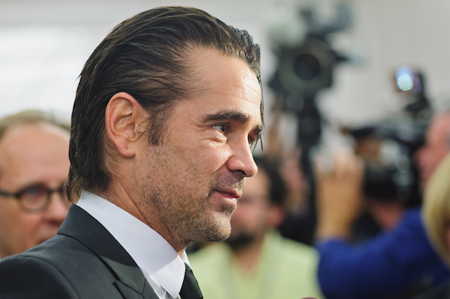 "Colin Farrell faces the cameras at the premiere of ""Miss Julie"""