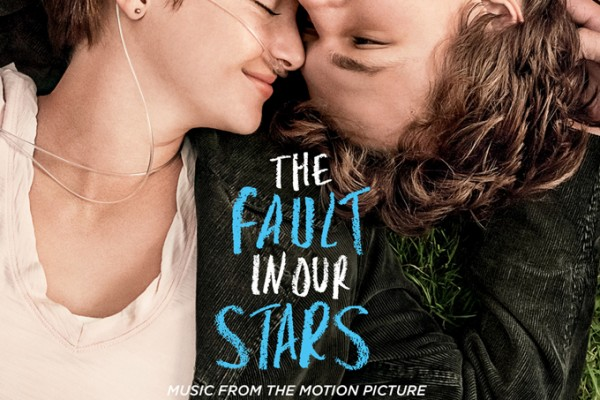 Shailene Woodley and Ansel Elgort on the cover of the The Fault in Our Stars:Music from the Motion Picture soundtrack