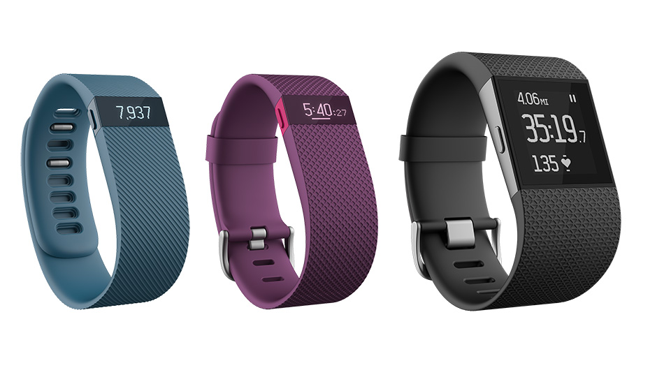 A few Fitbit models are displayed