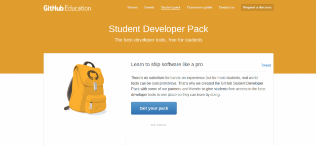 GitHub Education Student Developer Pack