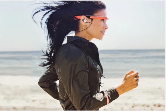 Google Glass red