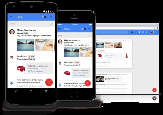 Google Inbox mobile and desktop