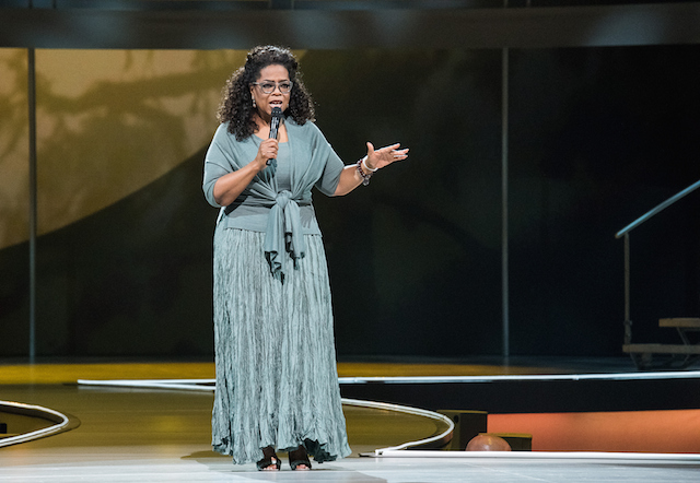 Oprah Winfrey speaks at the Oprah's The Life You Want Weekend