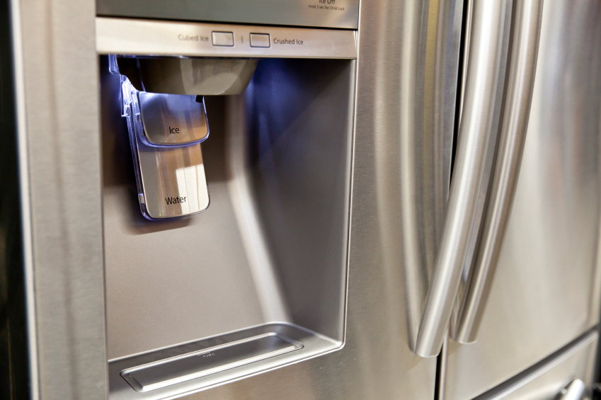 water dispenser on the refrigerator