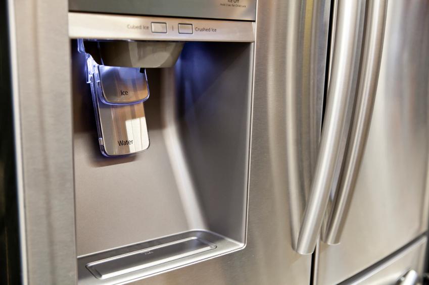 water dispenser on the refrigerator
