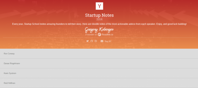 Startup Notes