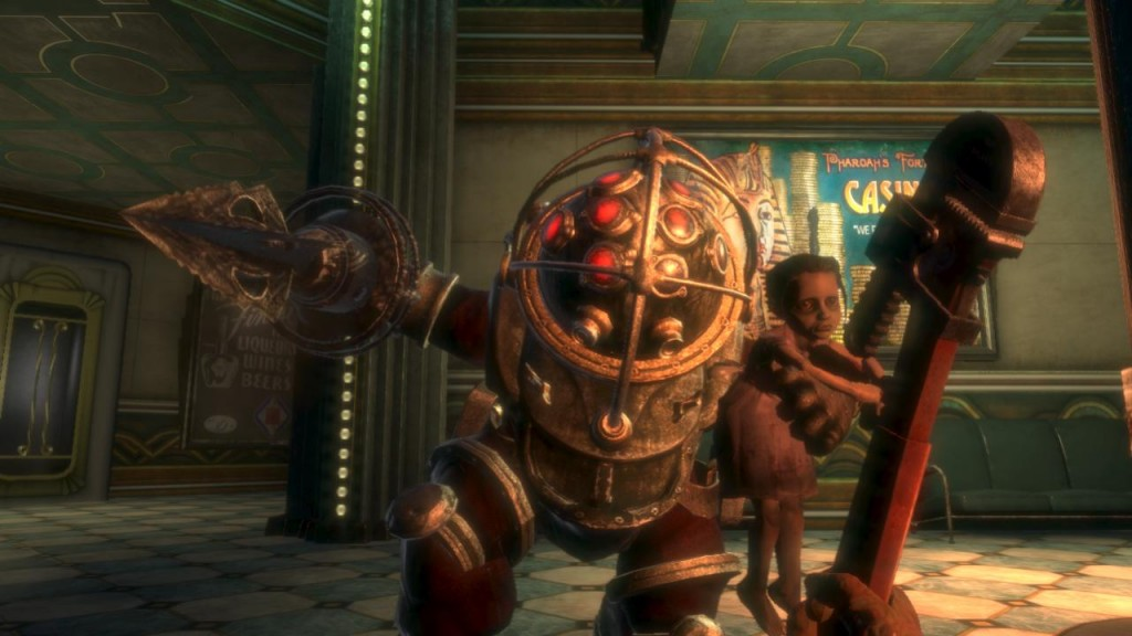 Big Daddy and Little Sister from 'Bioshock'