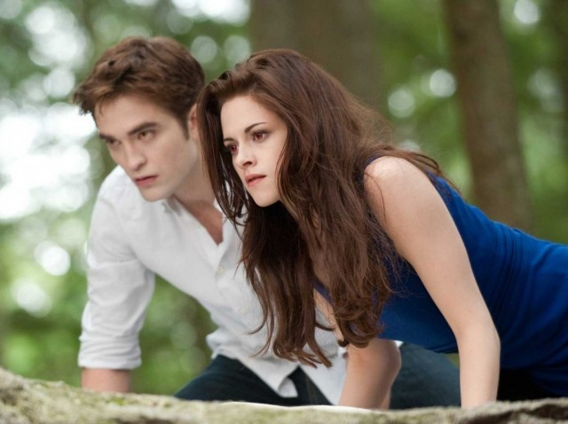 Robert Pattinson and Kristen Stewart in 'Twilight: Breaking Dawn Part 2'