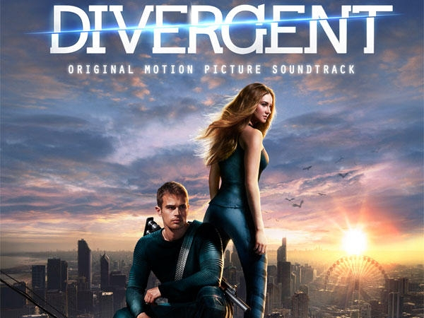 Shailene Woodley and Theo James on the cover of the Divergent: Original Motion Picture Soundtrack
