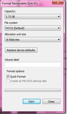 USB Format FAT32