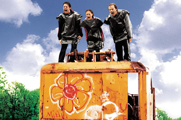Zach Braff, Natalie Portman and Peter Skarsgard on the cover of the Garden State soundtrack