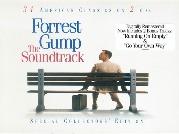 Tom Hanks on the cover of Forrest Gump: The Soundtrack