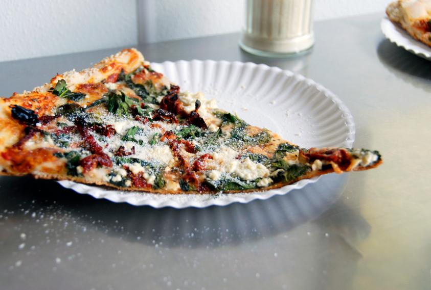 Feta Pizza, Kale, Spinach, greens