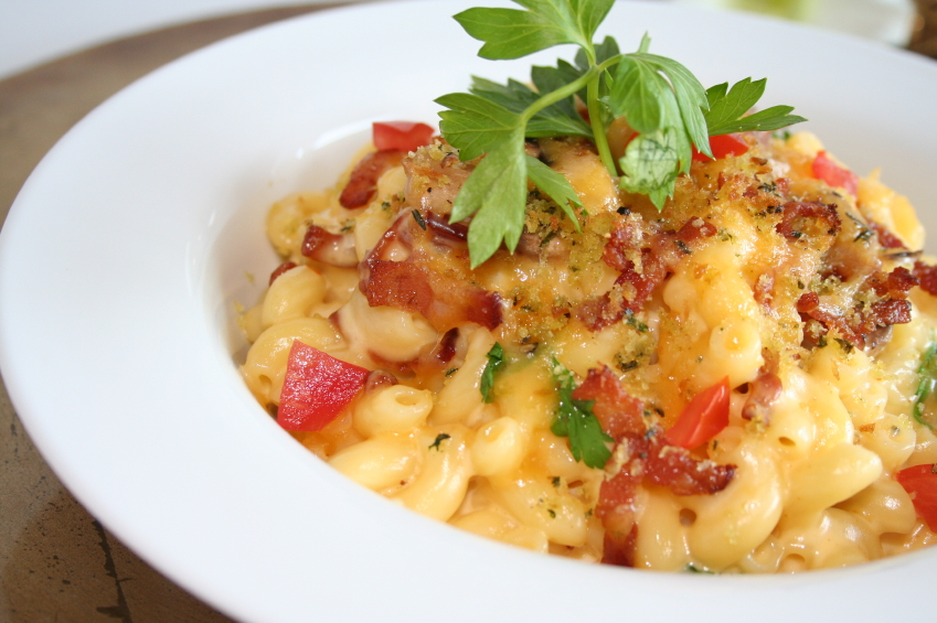 Macaroni and Cheese, bell pepper
