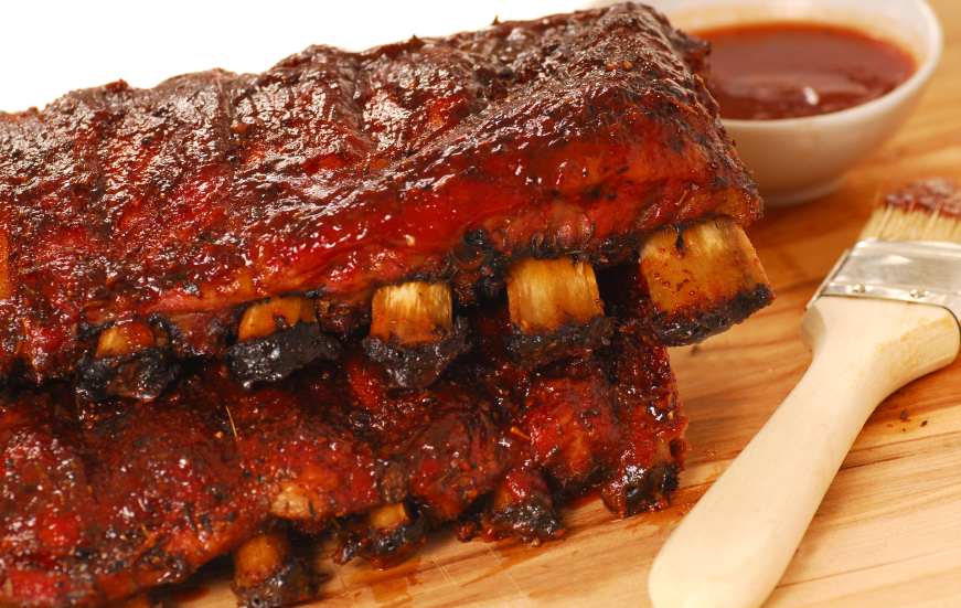Slabs of Barbecue Spare ribs, bbq