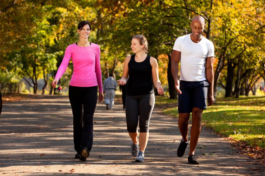 Walking, park, exercise, fitness