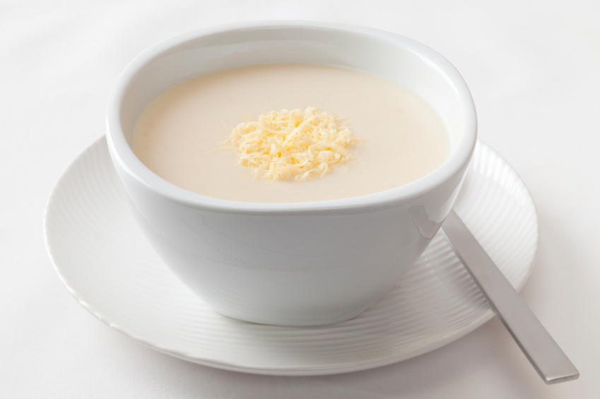 cream Cauliflower Soup with Cheese