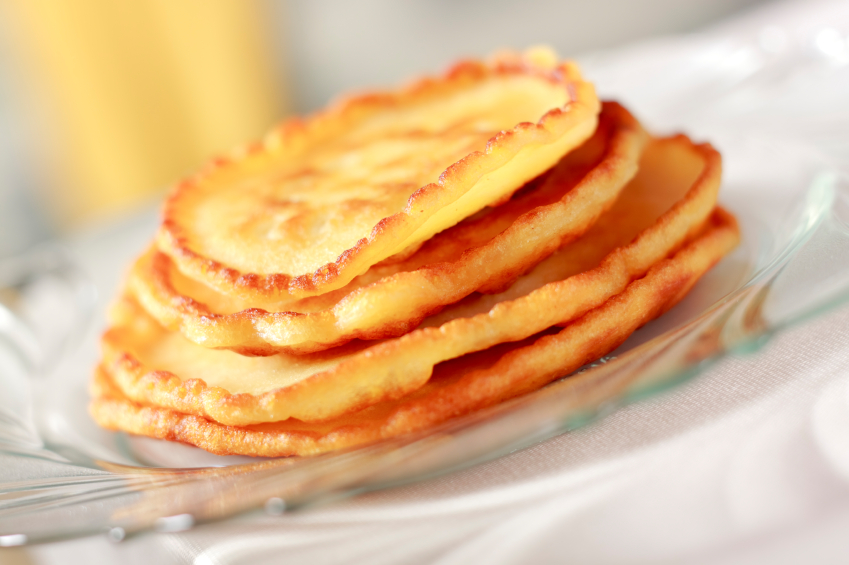 Pile of pancakes, sweet potato