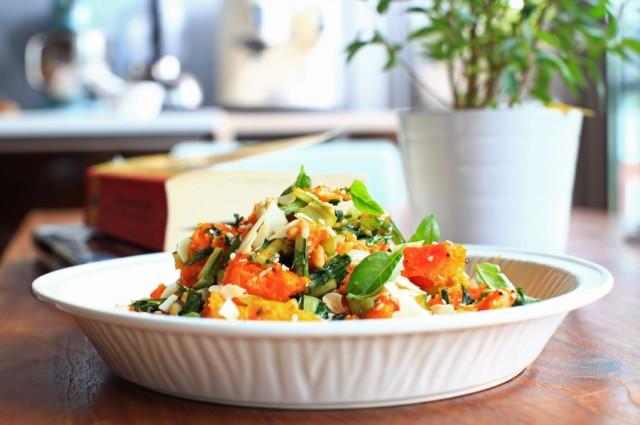 Pumpkin Salad, cheese, basil