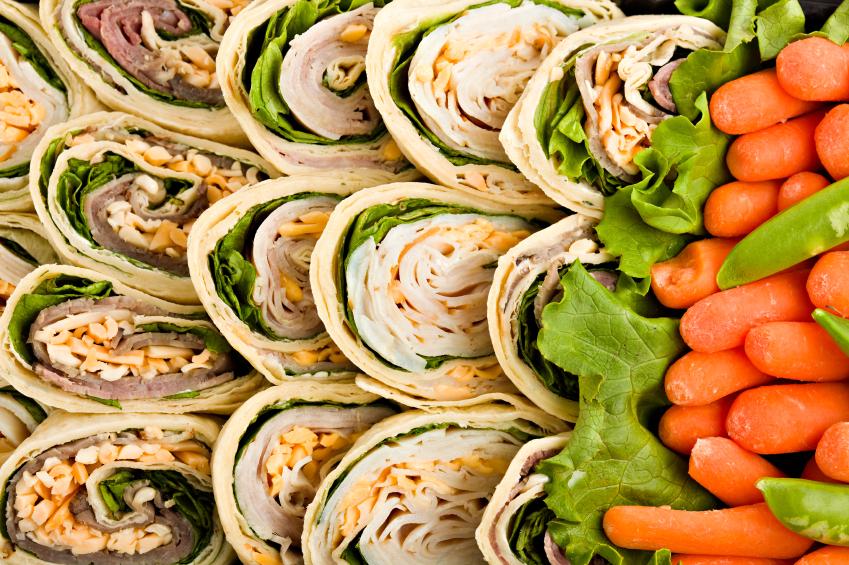 Wraps, vegetables