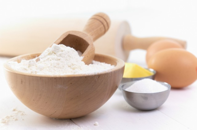 Flour, sugar, eggs, cooking, baking