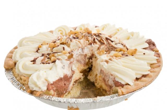 Pie, chocolate, whipped cream