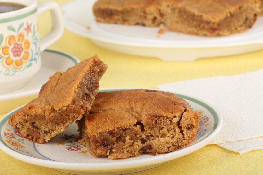 Blondies on a plate