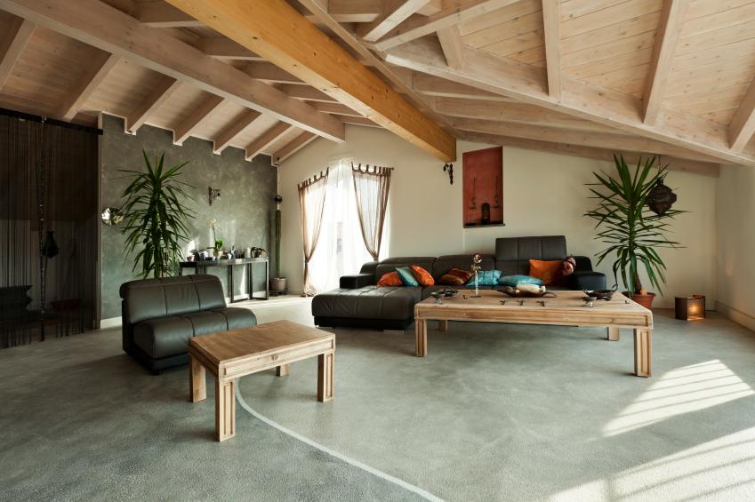 Furniture in a fancy apartment