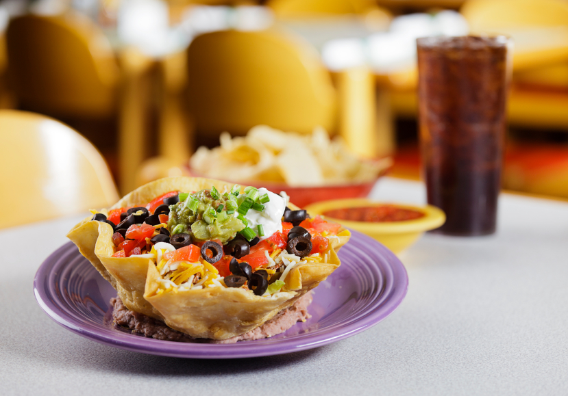 Taco Salad Cup, Cheese, Olives
