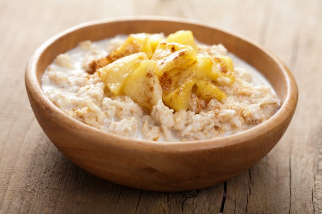 Oatmeal, apples, porridge