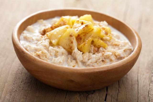 Oatmeal, apples, porridge