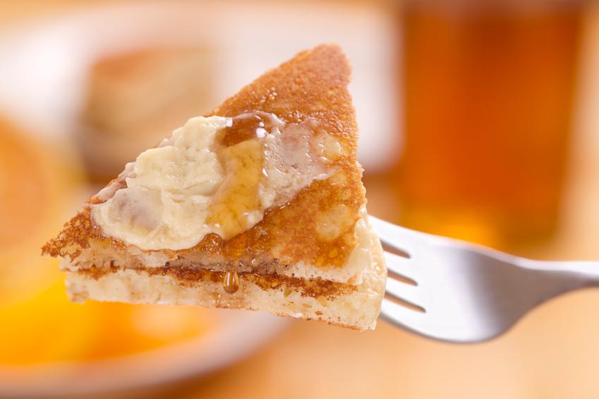 Pancake, fork