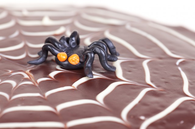 Spider Web Cake, Halloween, Chocolate