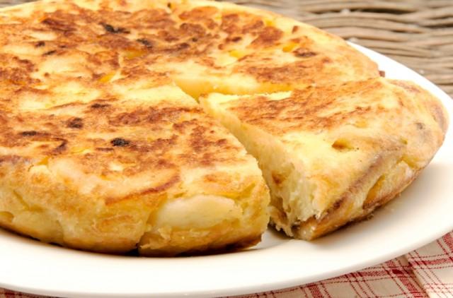 Spanish omelette, tortilla espanola, eggs