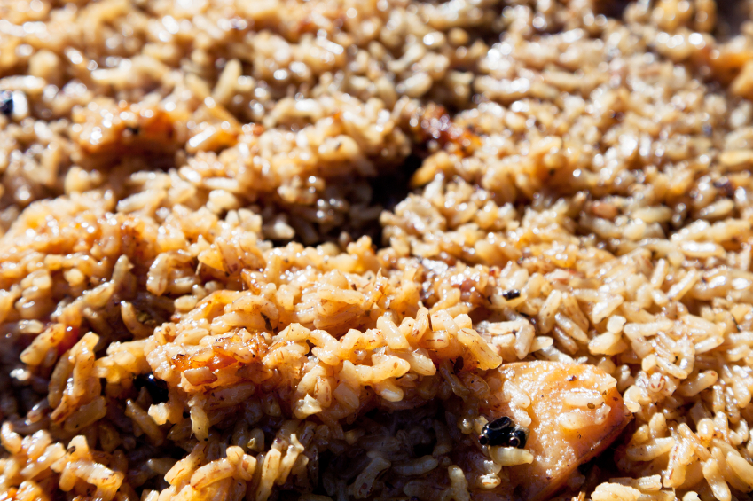 cooked rice pilaf