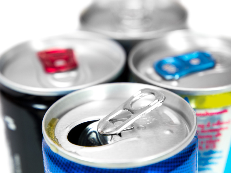 Soda, energy drinks