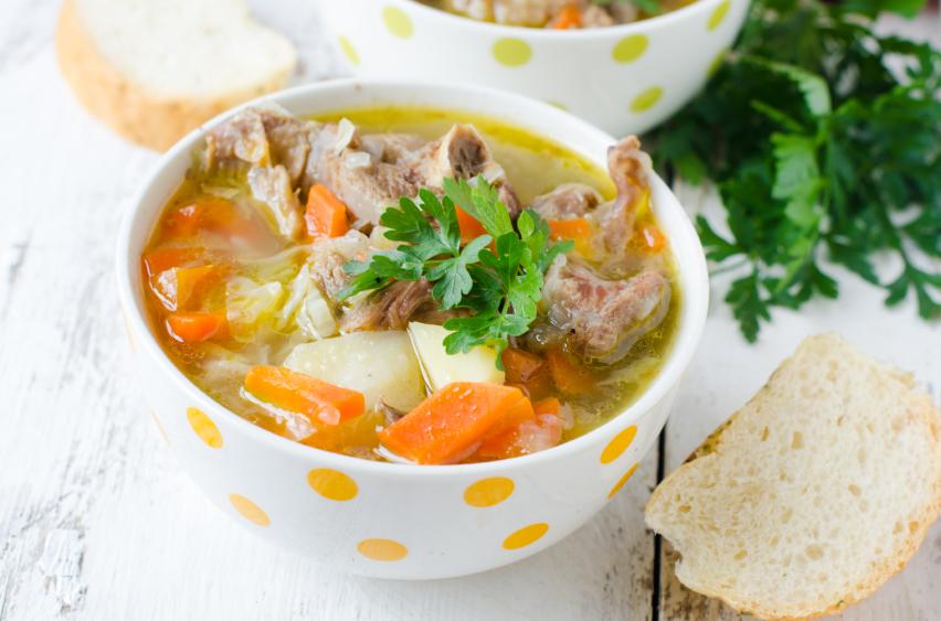 Turkey soup, vegetables, stew