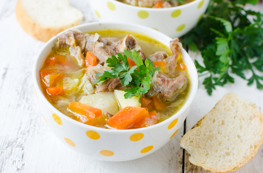 Turkey soup, vegetables, stew
